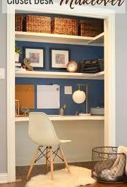 desk in closet pinterest. Unique Closet Closet Desk Makeover Diy Home Decor Painted Furniture Storage Ideas In Desk Closet Pinterest G