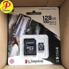 Thẻ nhớ Kingston microSD Canvas Select Plus 128GB - Hàng Chính Hãng FPT chính  hãng 399,000đ