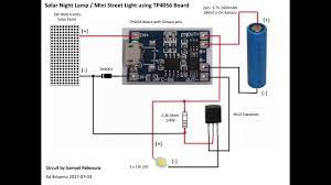 diy simple solar night lamp mini street light using tp4056 board