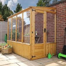 image to enlarge 8 x 4 waltons lean to pent wooden greenhouse