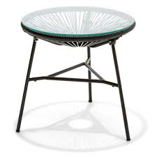 outdoor furniture outdoor settings table chairs kmart acapulco replica side table black