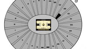 Hawkeye Football Seating Chart Carver Hawkeye Arena Seating Chart Iowa Hawkeyes