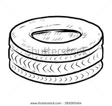 tires clipart black and white. Old Cartoon Vector Illustration Tire Clipart Black And White Image Library In Tires