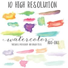 free watercolor brushes illustrator painted clip art trend alert here s my favorite clip art finds
