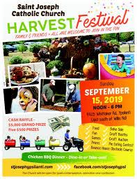 Fall Festival Flier Harvest Festival 2019 St Joseph Catholic Church