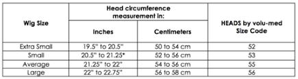 Average Head Size Chart Size Chart Heads_healthyhair