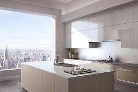 Contemporary Kitchen With Flush Kitchen Island In New York Ny