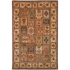 safavieh classic 11 x 17 hand tufted wool rug in assorted cl386a 1117