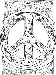Small Picture Peace Symbol Coloring Pages Coloring Pages Ideas Reviews