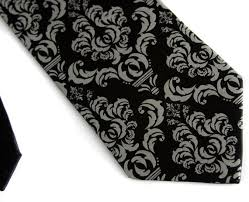 Damask Tie Black Damask Necktie Madison Damask Tie Black Floral Wedding Tie Wedding Ties For Men Tie For Groomsmen Tie For Groom Mens Ties Sets