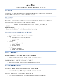 High School Resume Resumes Perfect For Students Student Template