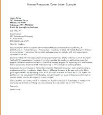 Hr Cover Letter Examples Unique Human Resources Cover Letter No Experience Sample Human Resources