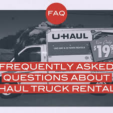 Uhaul Rental Quote Inspiration Frequently Asked Questions About UHaul Truck Rentals