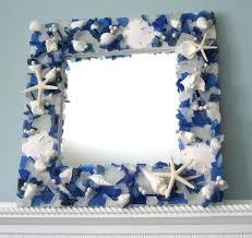 sea glass mirror sea glass mirror beach glass mirror mirror seashell mirror sea glass sea glass