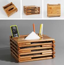 wooden home office. Wooden Home Office Desk Desktop Organizer Storage Box Tissue Holder