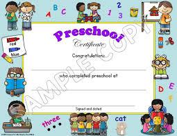 Preschool Graduation Certificate Editable Preschool Pre K Pre Kindergarten Diplomas Certificates