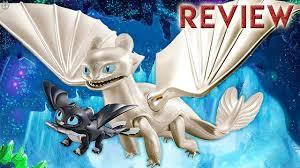 How To Train Your Dragon 3 Playmobil Light Fury Light Fury With Baby Dragon Playmobil Figure Review