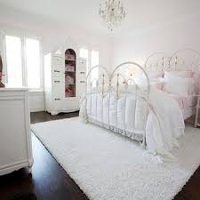 Perfect White Shag Rug In Bedroom Iron Bed L Design