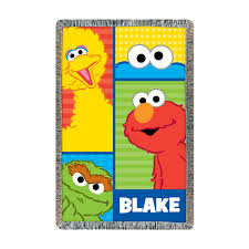 Sesame Street Bedroom Decor The Official Pbs Kids Shop Sesame Street Elmo And Friends Throw