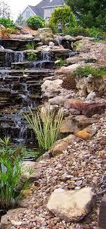 Wonderful Garden With Big Waterfalls