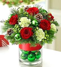 christmas flower arrangements ideas themed theme holiday centerpieces a19