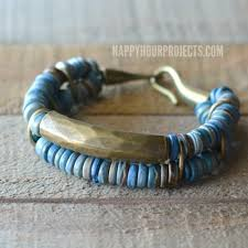 coconut brass diy bead bracelet at happyhourprojects com diy jewelry fashion