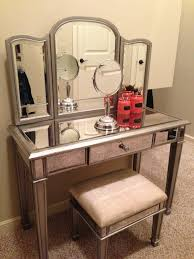 Makeup Dresser Interior Decor Charming Mirrored Vanity For Home Furniture