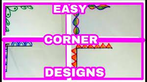 Cute Easy Designs Cute And Easy Borders Corner Designs Project Decoration Ideas