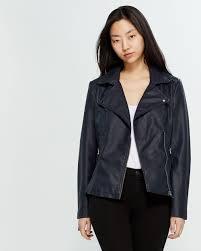faux leather moto jacket lyst view fullscreen