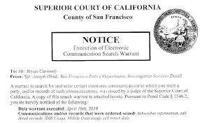 San Francisco Police Seize Multiple Phone Records Of