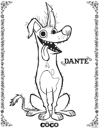 Coloriage Dante Coco Disney Dessin