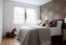 Patterned Wallpaper For Bedrooms Wallpaper In Small Bedroom