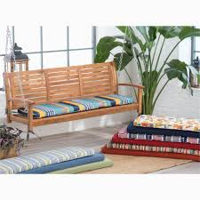 Astounding Outdoor Porch Swing Cushions Also With Back Portraits