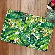 banan leaf bath mats by goodbath tropical palm tree leaves non slip bath rugs absorbent bathroom