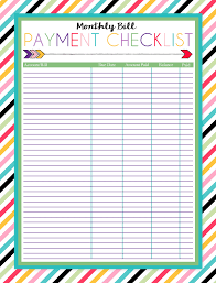 bill organizer templates monthly bill organizer template free and excel monthly budget
