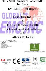 Ebrse4 Remote Sensor Module Test Report Global Emc Fcc Rss