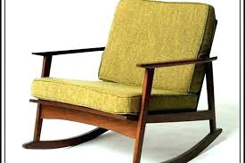 mid century modern rocking chair studio vintage mid century modern rocking chair with cream tweed cushions outdoor