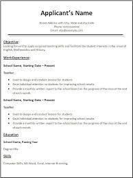 Fresher Te Elegant Free Teacher Resume Templates Download Resume