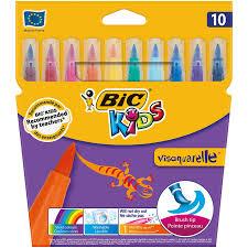 Bic Kids Visaquarelle Feutres De Coloriage Etui Carton De 10