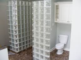 Bathroom Partition Walls Corner Glass Block Square Or Rectangular Shower Partition Wall