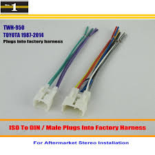 popular iso connector toyota buy cheap iso connector toyota lots for toyota 1987 2014 male iso radio wire cable wiring harness car stereo