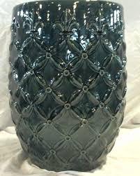 member s mark st00004n 190 19in montmartre ceramic garden stool grey