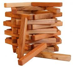 Game With Wooden Sticks Cherry Wooden Building Sticks by Camden Rose Made in the USA 2