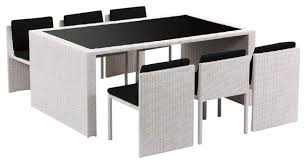 patio table and 6 chairs: taurus table and  chair patio dining set modern outdoor dining sets