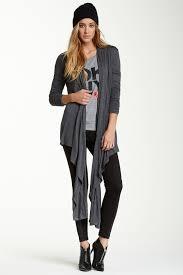 Dkny Jeans Long Sleeve Snap Wrap Cozy Nordstrom Rack