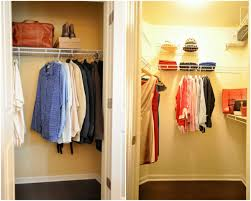 Organize Small Bedroom Closet Small Closet Ideas White Wooden Shelving Walk In Closet With Pile