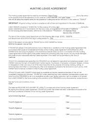 Hunting Lease Agreement Hunting Lease Agreements Lease Agreements Pinterest Front 2