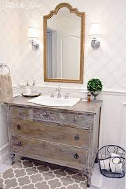 shabby chic whitewashed dresser for an antique refined touch