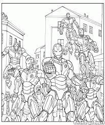 Disegni Da Colorare Ultron Esercito Di Robot Con Avengers Da