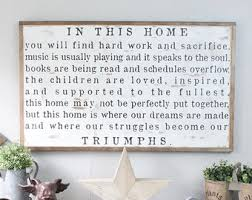 Large Wooden Signs Home Decor Large Wall Signs On Wonderful Family Rules Wood Sign Personalized 2